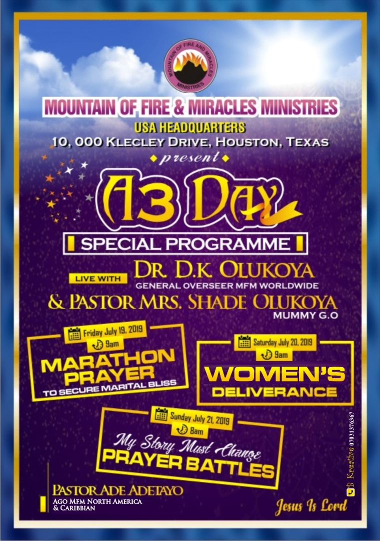 Three Days Special Program | Mountain of Fire and Miracles